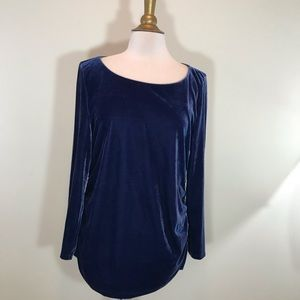 Soft Surroundings Blue Velvet top